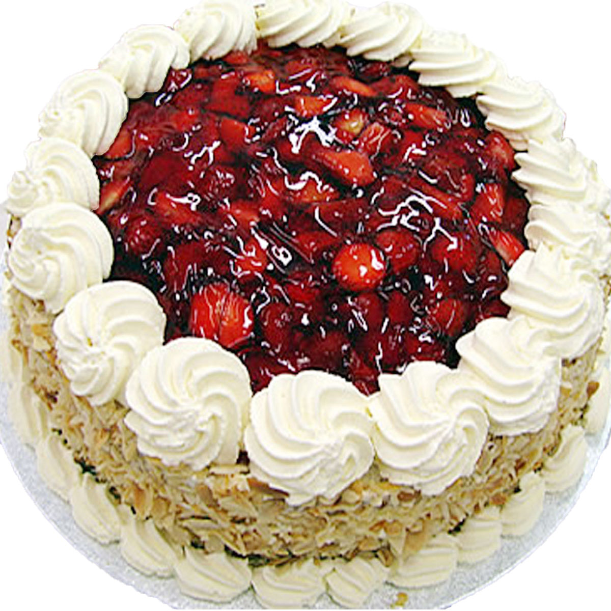 STRAWERRY WITH ALMOND FLAKES, online cake order in gurgaon