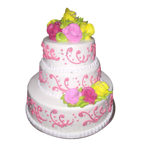 3Floor Flower2 Cake, online cake order in gurgaon