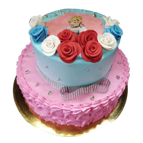 Cindrella Flower Cake, online cake order in gurgaon